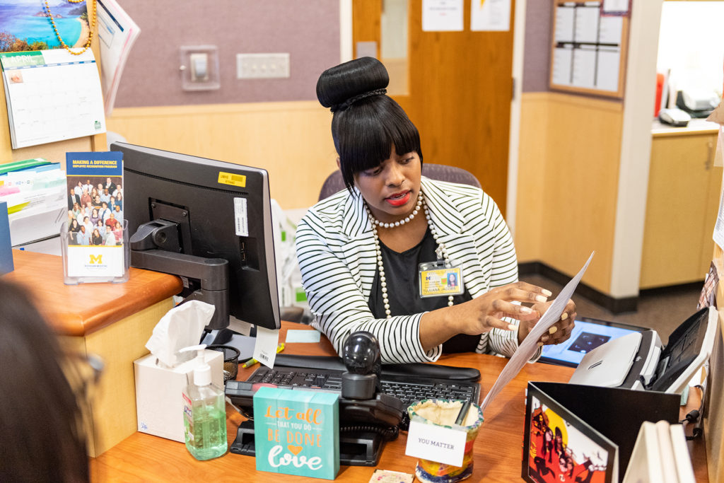 Taubman Center Clinic Front Desk: Tujuana Jacobs