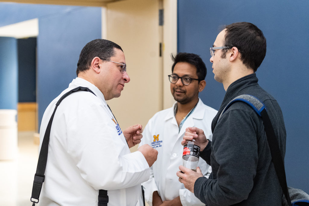 Dr. Khaled Hafez, Faculty, Dr. Parth Shah, Resident, and Dr. Sam Kaffenberger, Faculty (left to right)