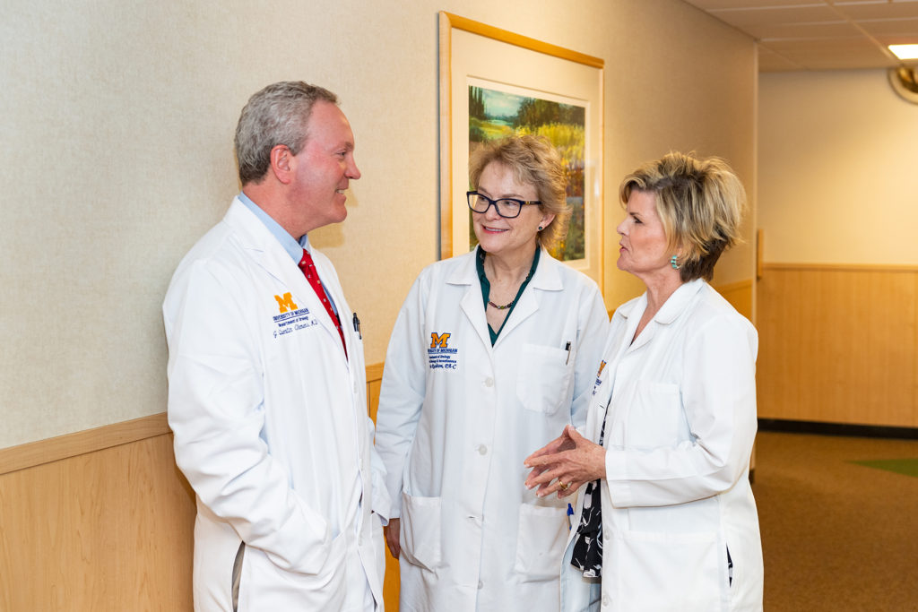 Taubman Center Clinic: Dr. Quentin Clemens, Faculty with Physician Assistants Janice Rushton and Gayle Adams